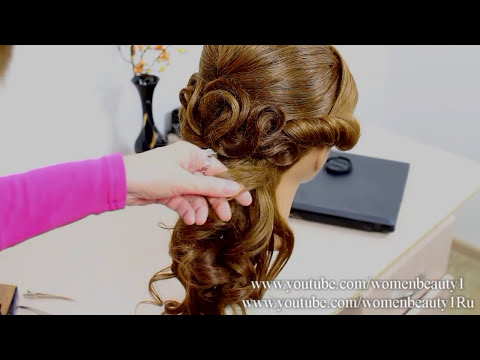 Hairstyles for medium long hair.  Wedding prom hairstyles