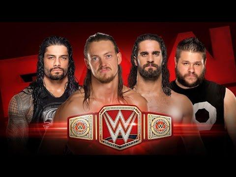 WWE RAW (08/29/2016)  SETH ROLLINS VS. ROMAN REIGNS VS. BIG CASS VS. KEVIN OWENS - UNIVERSAL TITLE