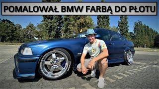 Pomalował BMW E36 farbą do płotu. Jaki efekt?