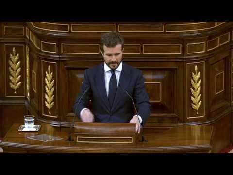 Réplica de Pablo Casado en el Pleno del Congreso d...