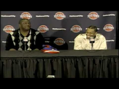 Allen Iverson Detroit Pistons News Conference - We talking about practice?? *Funny*