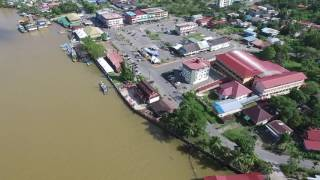 Mukah Malaysia  City new picture : Drone flight over Mukah town, Sarawak, East Malaysia