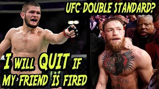 Video Investigating Khabib's THREAT To Leave UFC Over McGregor Double Standard MP3, 3GP, MP4, WEBM, AVI, FLV Mei 2019