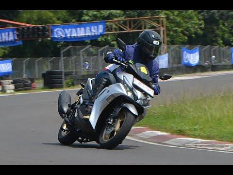 Test Ride All New Aerox 155 Coneccted di Sentul Kecil