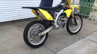 10. 2015 RMZ-250 Start up and rev with yoshi rs4 without insert