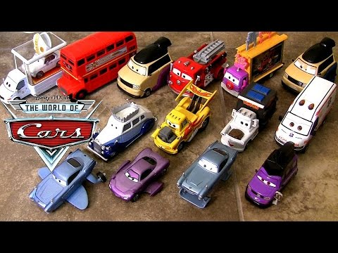 collection - Welcome to Blucollection ToyCollection. Here the entire complete Disney Pixar Cars2 Deluxe Diecast Collection of 2014. Mattel released 14 deluxe 1:55 scale die-cast cars. 01. Submarine Finn...