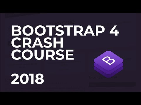 Bootstrap 4 In 2018 - Free Crash Course Of 4.0.0