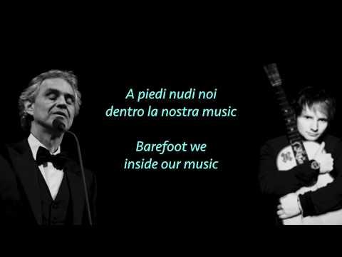 Ed Sheeran, Perfect Symphony ft. Andrea Bocelli (lyrics & translate)