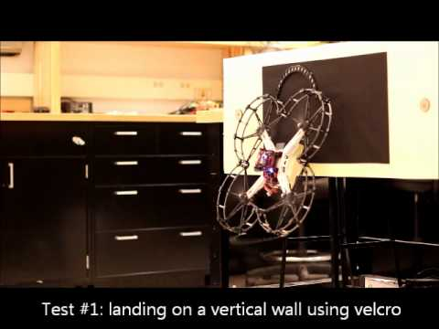 perching robot - perching on vertical wall using velcro http://robots.iit.edu/