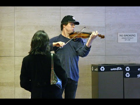 Astonishing experiment in the metro: Joshua Bell plays his Stradivarius violin!