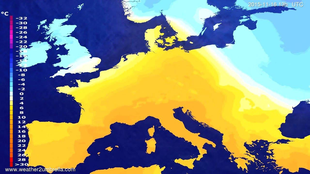 Temperature forecast Europe 2015-11-13