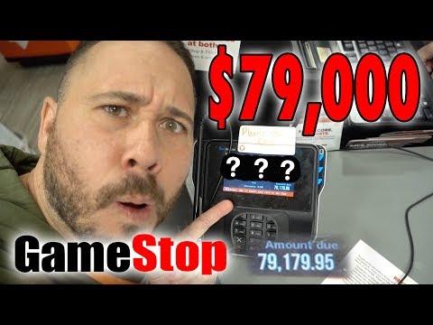 SPENDING $79,000 AT GAMESTOP