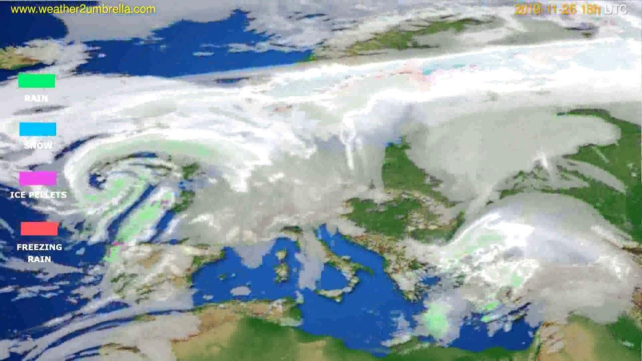 Precipitation forecast Europe // modelrun: 12h UTC 2019-11-24