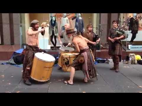 Clanadonia A Scottish Drum and Pipes Band That Plays Traditional Music Wearing Traditional