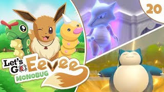 Pokémon Let's Go Eevee MonoBUG Let's Play! - Episode #20 - SPOOKY GHOSTS AND SNORLAX! w/ aDrive by aDrive