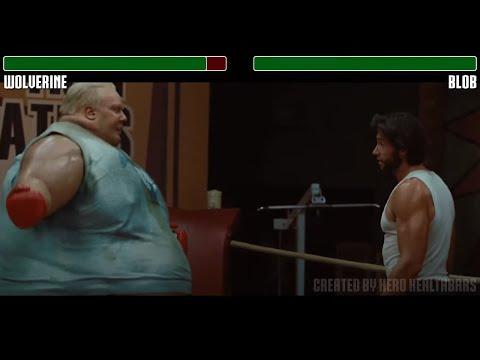 Wolverine vs Blob fight WITH HEALTHBARS | HD | X-men Origins: Wolverine