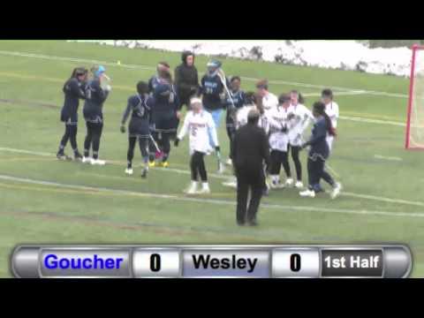 WLAX: Goucher vs. Wesley Highlights - 2/21/15
