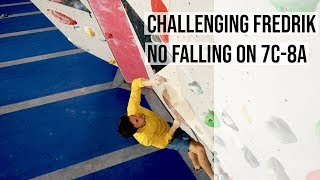 Climbing Challenge For Fredrik - No Falling Allowed by Eric Karlsson Bouldering
