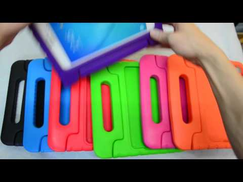 Kids Shock Proof Thick Foam EVA Handle Stand Case Cover for Tablets