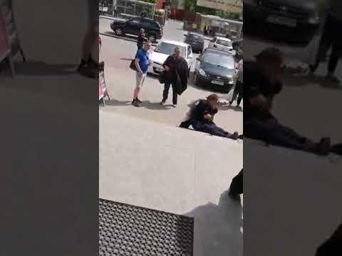 Busko-Zdrój. Policjant zaatakowany przez nożownika (18.05.2019)