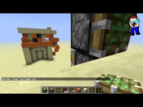 [Minecraft] Урок 76: Напольная дверь 2x2 с лестницей!