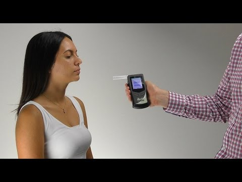 AlcoVUE Industrial grade Breathalyser - Operational Video