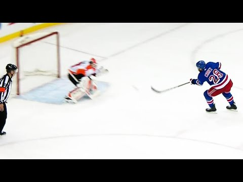 Video: Rangers' Carey scores shorthanded after Weal takes a spill
