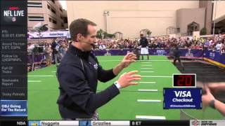 Odell Beckham Junior Drew Brees Guinness World Record One Hand Catch