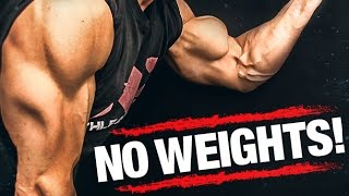 Arm Workout WITHOUT Weights (BICEPS AND TRICEPS!!)