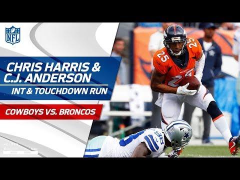 Watch Chris Harris Tip Drill Int C J Anderson Breaks Off Huge
