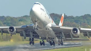 40 minutes PURE AVIATION - 45 BIG PLANES at Frankfurt - Boeing 747, Airbus A380 ... (4K)