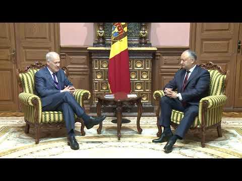 Președintele Igor Dodon a avut o întrevedere cu Ambasadorul Michael Scanlan
