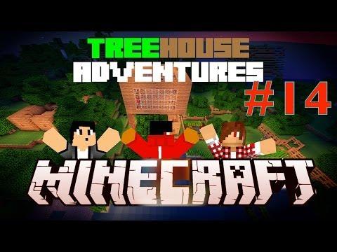 Minecraft: Treehouse Adventures! | E14 | w/BladeZ, Dark & FuZe