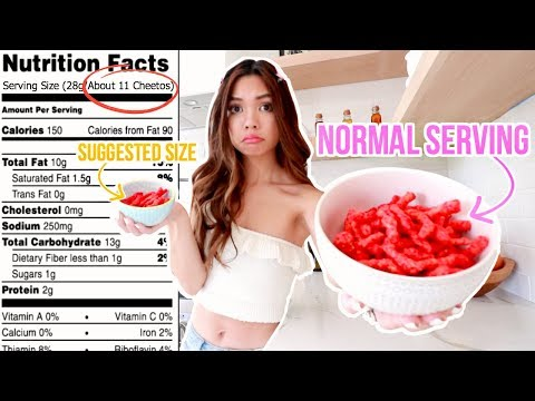 Only Eating Recommended Serving Sizes for 24 hours! *TINY PORTIONS