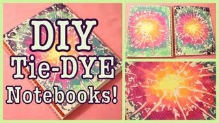 DIY: TIE-DYE Notebooks! Back to School - YouTube