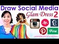 FASHION, ART, CHALLENGE - Social Media RED CARPET DRESS 2