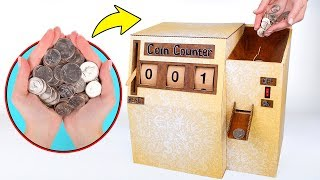 How To Make Cardboard Coin Counter 💰