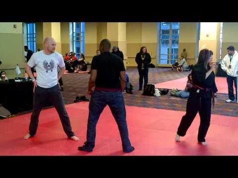 Tyler Williams at Cynthia Rothrock Fight Seminar