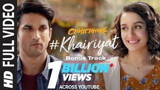 Video Full Song: KHAIRIYAT (BONUS TRACK) | CHHICHHORE | Sushant, Shraddha | Pritam, Amitabh Bhattacharya download in MP3, 3GP, MP4, WEBM, AVI, FLV January 2017