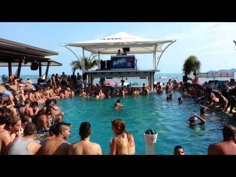 Dj Fameway @Ark Bar Beach Club's Pool Party, Koh Samui Thailand (Part 2)