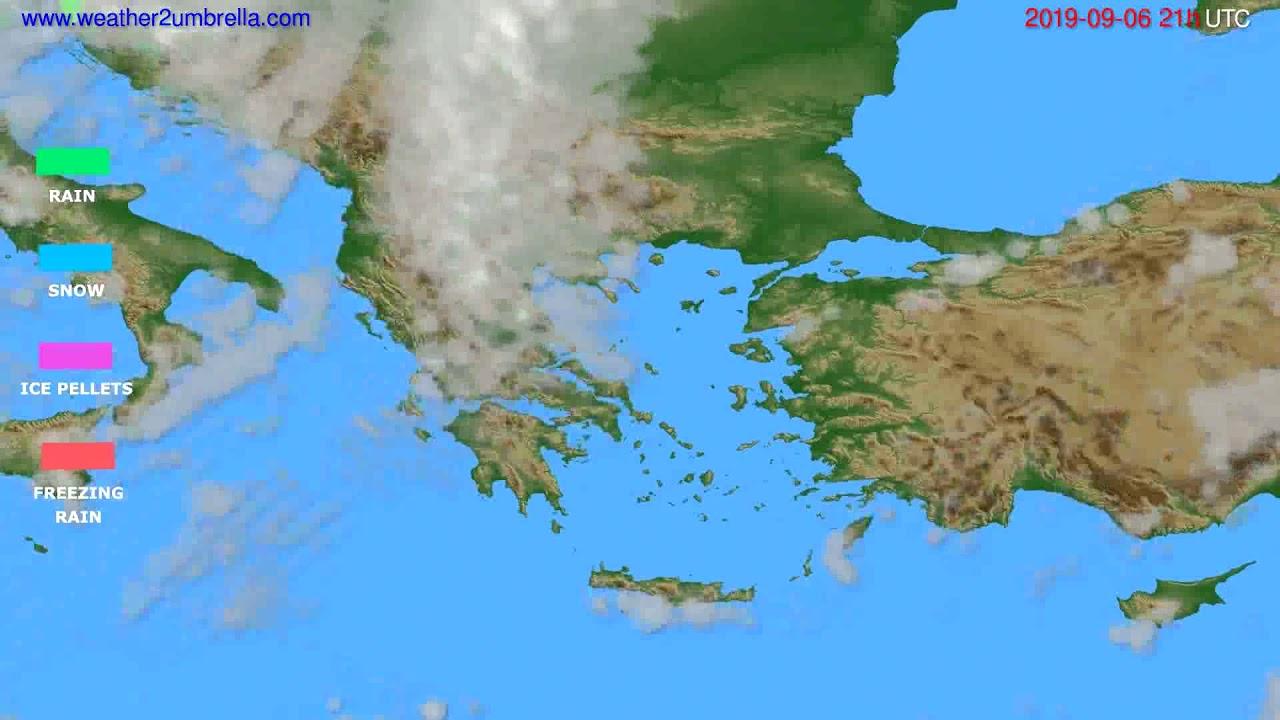 Precipitation forecast Greece // modelrun: 00h UTC 2019-09-05
