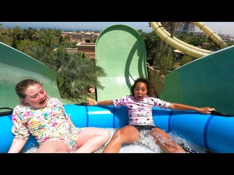 SCARY WATERPARK WATERSLIDES IN DUBAI!!