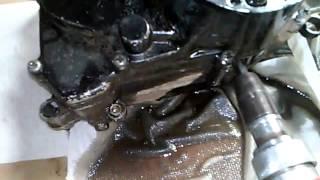 9. Suzuki jr50 clutch side case removel part 5