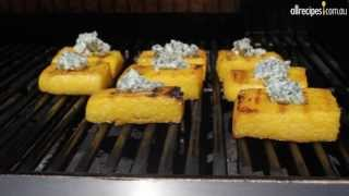 Polenta Squares with Blue Cheese