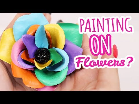 Painting ON Flowers....wait what?