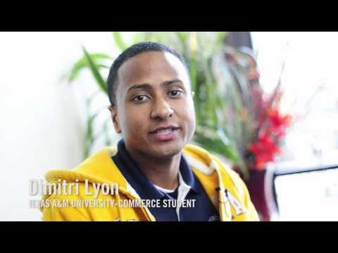 Dimitri Lyon talks about his experience at Texas A&M University-Commerce