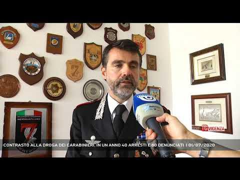 CONTRASTO ALLA DROGA DEI CARABINIERI, IN UN ANNO 40 ARRESTI E 80 DENUNCIATI  | 01/07/2020