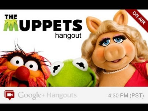 Image of +Muppets Google+ Hangout Video (G+ Hangout)