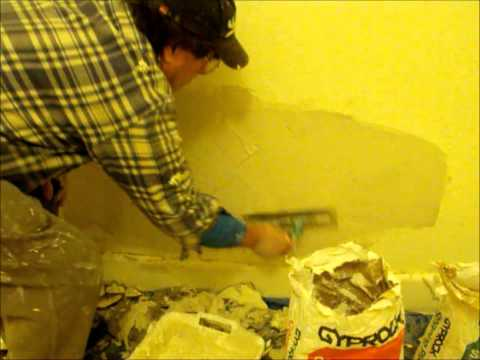 plaster repair - Solid Plaster Wall Repairs, Plastering Rendering Do it yourself how to repair a hole in the wall renovations restorations.