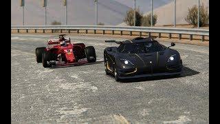 Video Battle F1 2017 Ferrari vs Supercars at Black Cat Country MP3, 3GP, MP4, WEBM, AVI, FLV Januari 2019